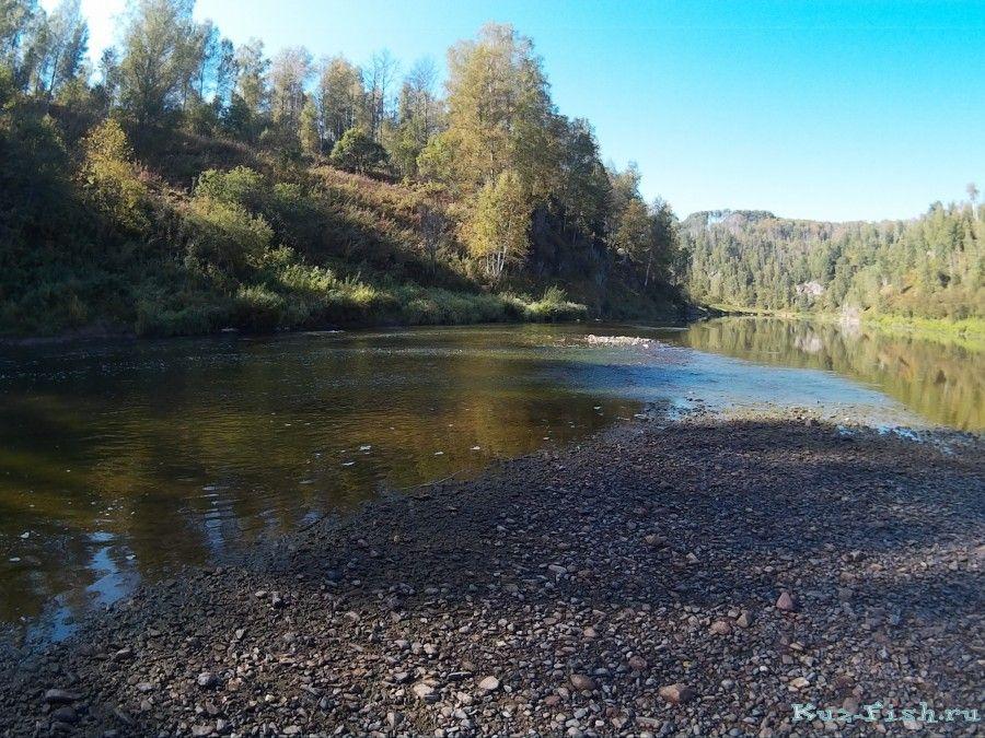 рыбалка на реке в кемеровской